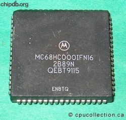 Motorola MC68HC000IFN16