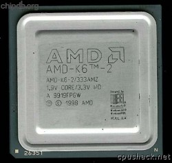 AMD AMD-K6-2/333AMZ gold N in corner