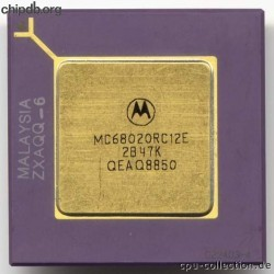 Motorola MC68020RC12E three rows text