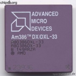 AMD A80386DX/DXL-33 rev B black print