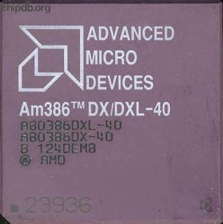 AMD A80386DX/DXL-40 rev B