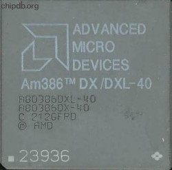 AMD A80386DX/DXL-40 Rev C grey ceramic