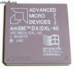 AMD A80386DX/DXL-40 rev D Windows logo diff print