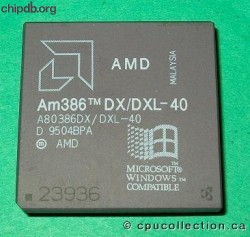 AMD A80386DX/DXL-40 rev D win logo