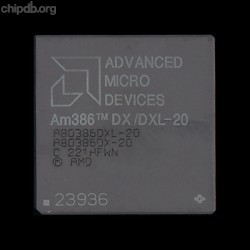 AMD A80386DX/DXL-20 rev C