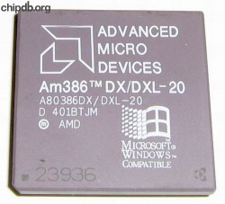 AMD A80386DX/DXL-20 rev D Windows logo