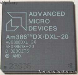 AMD A80386DX/DXL-20 rev D