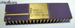 Intel C8087-3 print on top