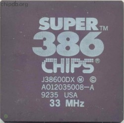 Chips & Technologies J38600DX 33 MHz