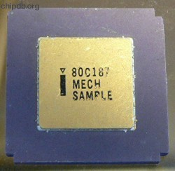 Intel 80C187 Mech. sample