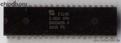 Zilog Z80A 8400W2N diff font