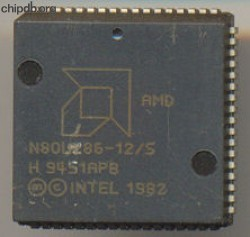 AMD N80L286-12/S engraved