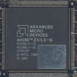 AMD Am286 ZX/LX-16 printed