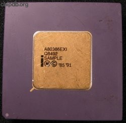 Intel A80386EXI Q8492 SAMPLE