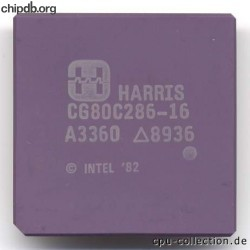 Harris CG80C286-16 INTEL 82